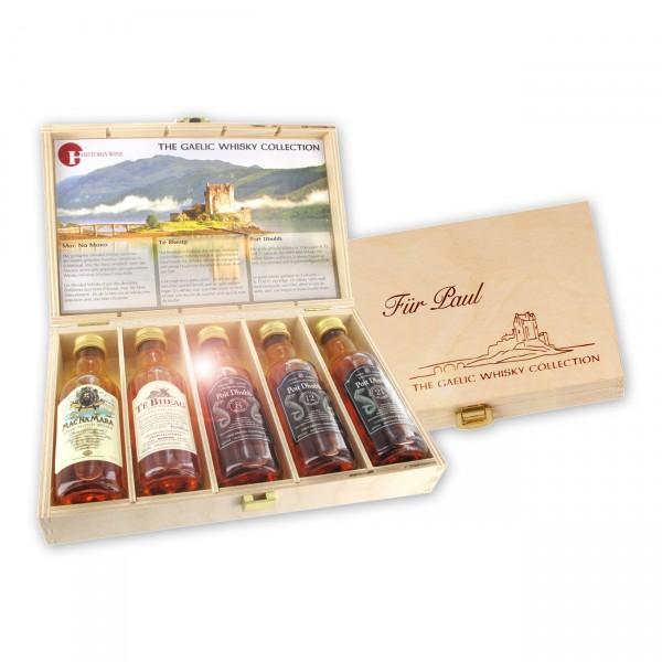 The Gaelic Whisky Collection ist eine geschmackvolle Zusammenstellung fünf ausgesuchter Whiskys aus den schottischen Highlands.