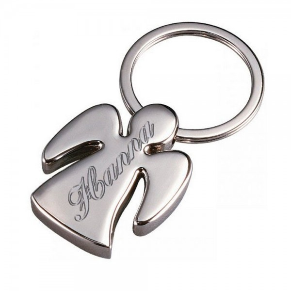 Deine Gravur auf dem edlen Schutzengel Schlüsselanhänger können wir auf Wunsch in einer schicken Schreibschrift ausführen.