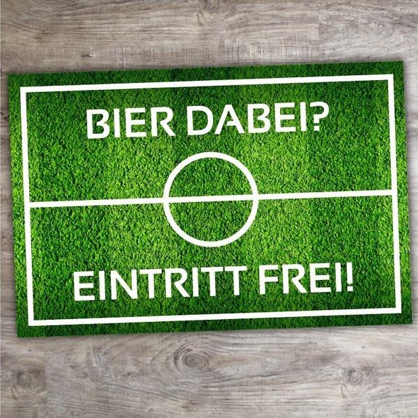 """Ein tolles Geschenk für Fußballfans: Fußmatte """"Bier dabei? Eintritt frei!"""""""